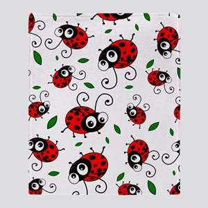 Cute Ladybug pattern Throw Blanket